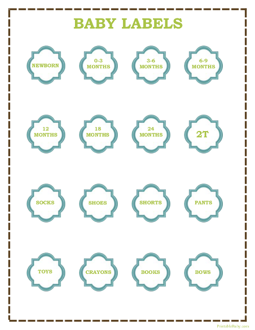 image about Printable Clothing Labels named Printable Little one Clothing Labels