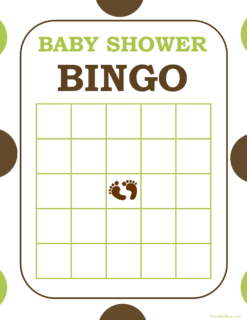 baby shower bingo game sheets