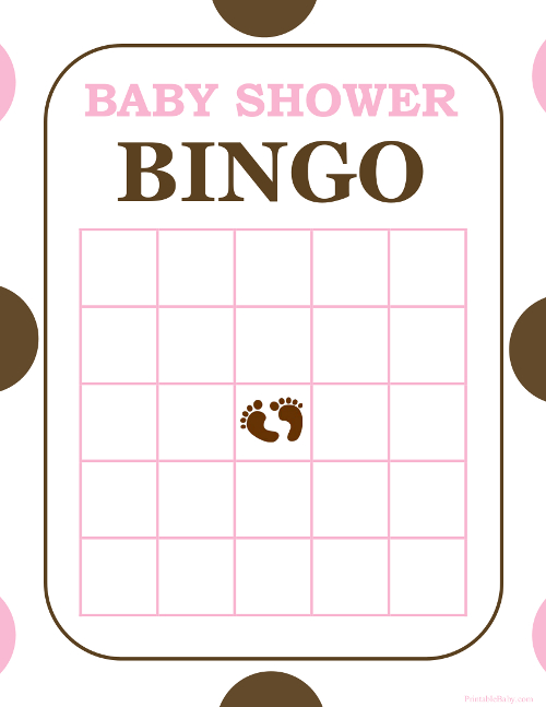 printable girl s baby shower bingo game